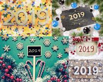 2019雪花裝飾背景拍攝高清圖片