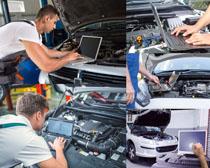 汽车检查技术工摄影高清图片