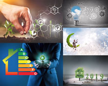 创意绿化商务人士摄影高清图片