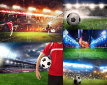 足球比賽運動員攝影高清圖片