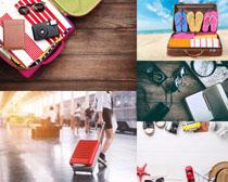旅行裝備箱包攝影高清圖片