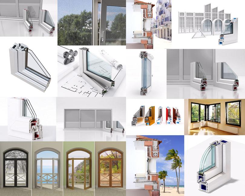 建筑鋁合金材料攝影高清圖片