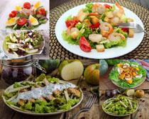 飯菜涼菜展示攝影高清圖片