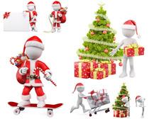 圣誕節小人攝影高清圖片