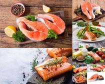 三文魚食材原料攝影高清圖片