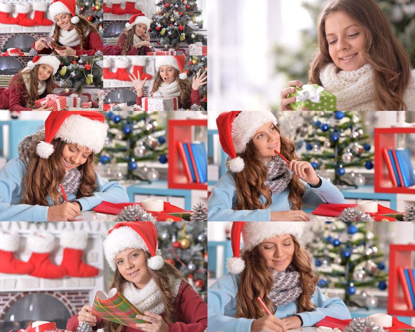 圣诞节日女孩与礼物摄影时时彩娱乐网站
