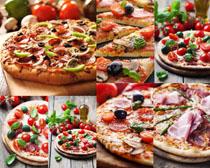 食物披薩展示拍攝高清圖片