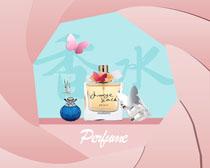 夏季香水广告PSD素材