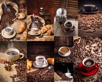 咖啡果與咖啡攝影高清圖片