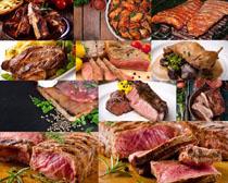 牛肉塊食物攝影高清圖片