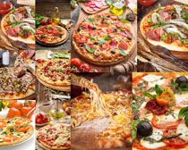 食物披薩展示攝影高清圖片