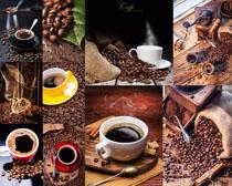 咖啡果咖啡杯攝影高清圖片