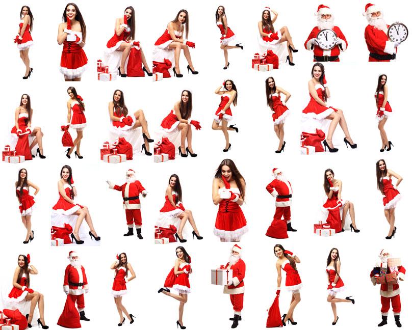 圣诞女人与老人摄影时时彩娱乐网站