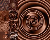 巧克力展示背景攝影高清圖片