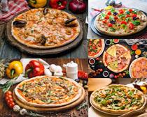 披薩美食展示拍攝高清圖片