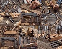 木匠工具裝備攝影高清圖片