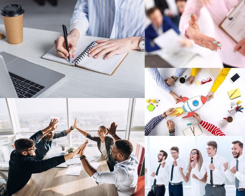 商务合作团队人士摄影高清图片