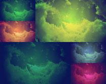 色彩云層背景攝影高清圖片