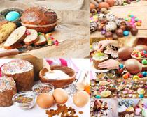 雞蛋面包早上食物攝影高清圖片