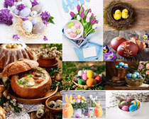 鸡蛋花朵面包装饰摄影高清图片
