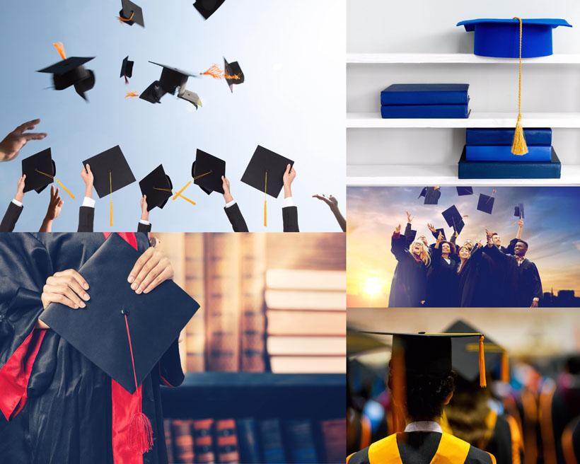 毕业典礼人物摄影高清图片