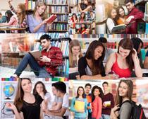 圖書館大學生攝影高清圖片