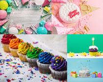 小蛋糕裝飾攝影高清圖片