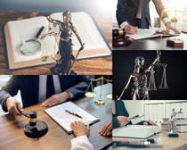 法庭裝飾展示攝影高清圖片