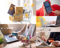 購物車數碼產品攝影高清圖片