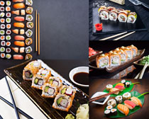 壽司食物展示攝影高清圖片