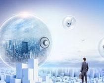 未来科技商务男士PSD素材