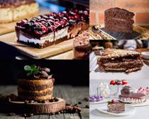 巧克力蛋糕甜品攝影高清圖片
