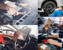 汽车技术维修工摄影高清图片