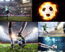 足球體育運動員攝影高清圖片