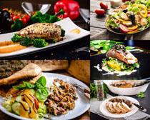 雞排魚食物攝影高清圖片