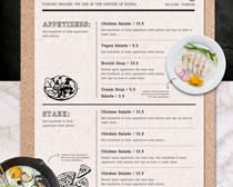 食物菜单展示PSD素材
