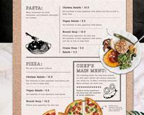 披萨菜单展示PSD素材