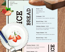 饮料水果菜单PSD素材