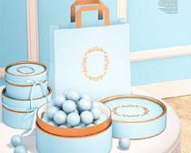 蓝色礼品盒PSD素材