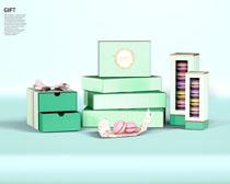 小礼品包装盒PSD素材