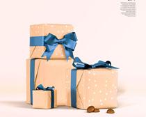 礼物包装展示PSD素材