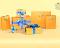 金色包装礼物展示PSD素材
