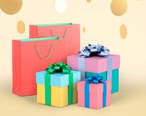 礼物与包装袋PSD素材