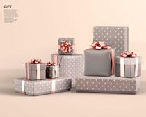 節日禮物包裝展示PSD素材