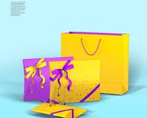 礼物包装袋展示PSD素材