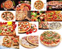 披薩展示食物攝影高清圖片