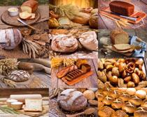 干糧食物面包攝影高清圖片
