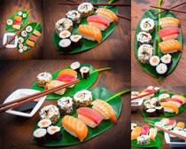 精致的壽司攝影高清圖片