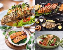 燒魚美食攝影高清圖片