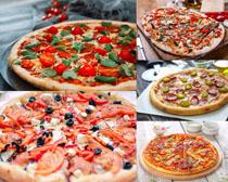 披薩美食展示攝影高清圖片
